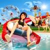 水滑梯和水上乐园游戏