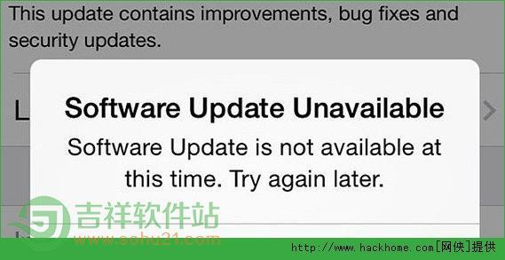 苹果ios7.1.1固件下载错误更新失败怎么办? ios7.1.1升级更新报错解决方法[图]