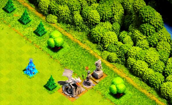 部落冲突十周年喷泉雕像是什么 十周年特殊雕像详解[多图]